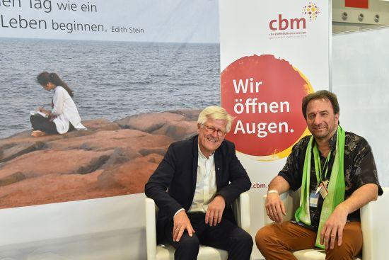 Clemens gemeinsam mit dem EKD Ratsvorsitzenden Heinrich Bedford-Strohm auf dem Kirchentag in Dortmund